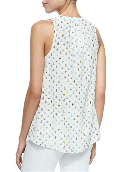 Aruna Dress joie aruna sleeveless nature print top