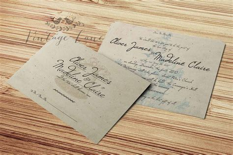 vintage style wedding cards wedding invitations