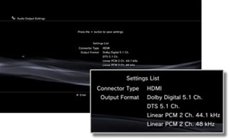 how to reset ps3 video to av ps3 audio output settings