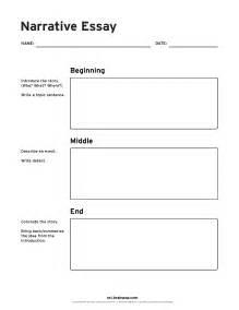 Exle Of A Story Essay narrative essay graphic organizer brainpop educators