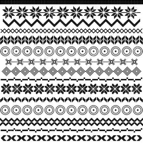 easy tribal pattern black and white 16654849 ethnic pattern motifs black and white border