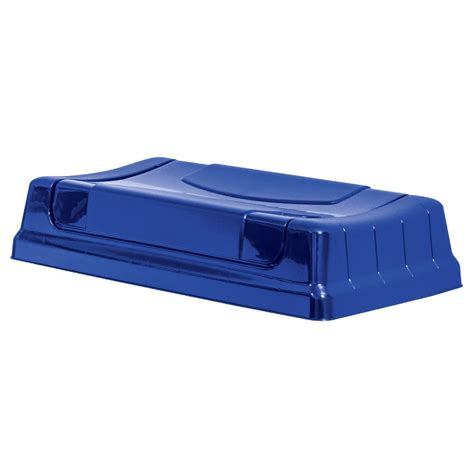 swing open united solutions highboy swing open lid in recycling blue