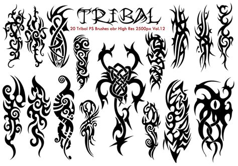 tribal pattern photoshop tribal ps brushes vol 12 free photoshop brushes at