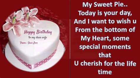 heartfelt birthday message wishes and greetings to wife