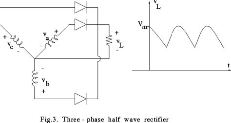 diode rectifier formula 3 phase midpoint connected rectifier