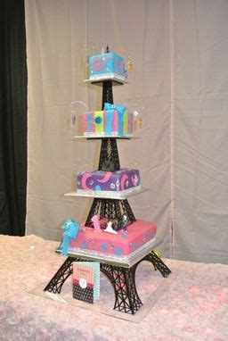 buy  hand crafted acrylic eiffel tower cake stand   order  artifacture custommadecom