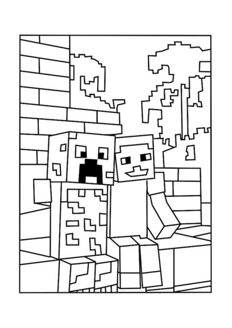 minecraft alex coloring page coloring pages best minecraft creeper coloring pages free