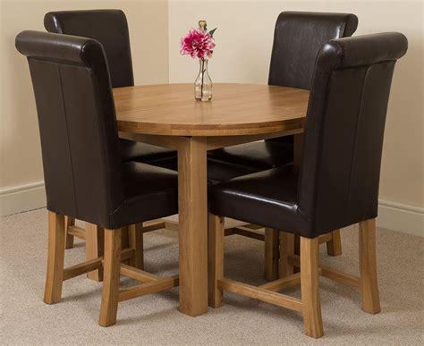 Dining Chairs Edmonton Edmonton Dining Set 4 Brown Chairs Oak Furniture King