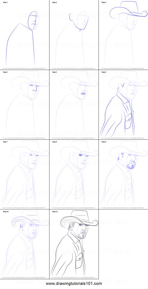 Drawing Step By Step by How To Draw Jason Aldean Printable Step By Step Drawing