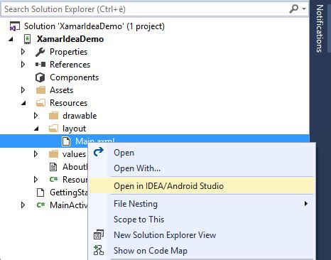 xamarin layout folders use idea ide for android ui design with visual studio and