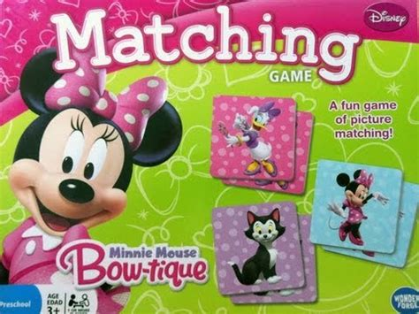 Where Can I Find Matching Disney Minnie Mouse Bowtique Matching Memory