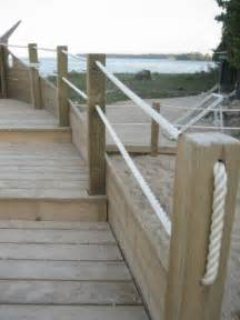 rope railing deck designs pinterest