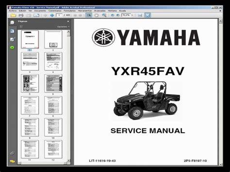 yamaha rhino service manual pdf wiring diagrams wiring