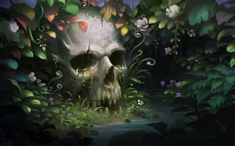 wallpaper skull flower skull wallpaper and background 1600x999 id 325813