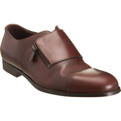 dress shoes bottega veneta side zip dress shoe in brown for lyst