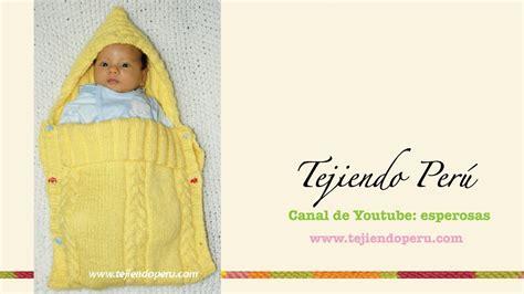 porta fan bebe tejido al crochet porta beb 233 en dos agujas youtube