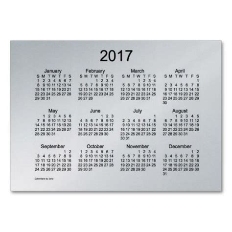Card Calendar Template by 2017 Pocket Calendar Business Card Template Diy Crafts