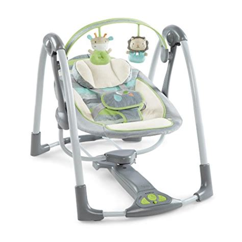 ingenuity portable swing ingenuity power adapt portable swing vesper grey