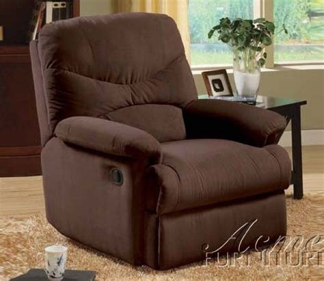 oakwood microfiber recliner gt cheap acme oakwood chocolate microfiber recliner