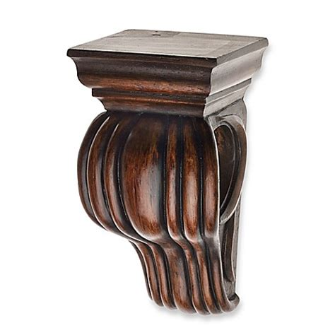 curtain rod sconces buy cambria 174 classic wood drapery sconce in dark brown