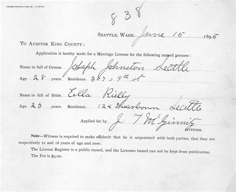 King County Court Divorce Records Marriage License Applications 1866 Present King County