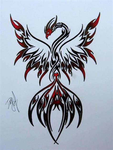tribal pheonix tattoo designs with tribal tattoos pictures