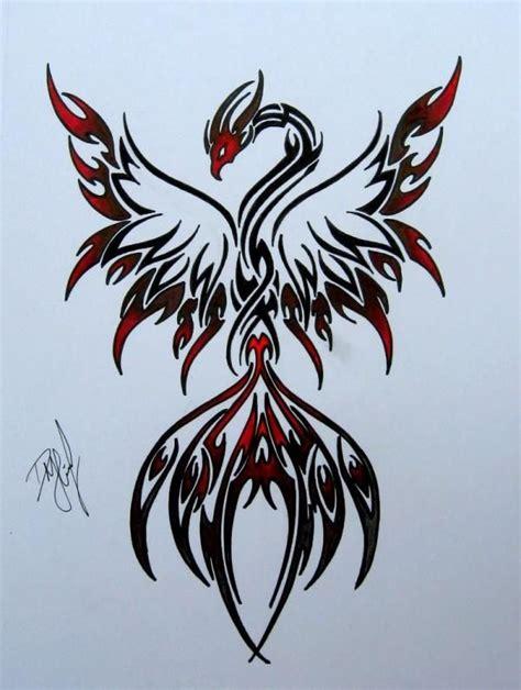 phoenix tattoo elegant elegant tattoo designs with tribal tattoos pictures