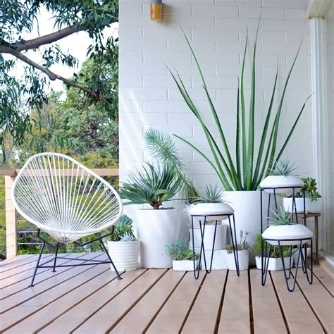 leggy stand marilyn modern plant stand patio design