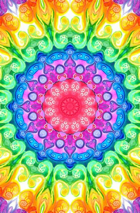 colorful mandala wallpaper mandala wallpaper iphone wallpapersafari