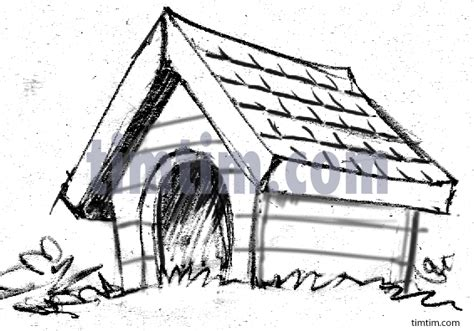 dog house sketch free drawing of a dog house sketch from the category pets timtim com