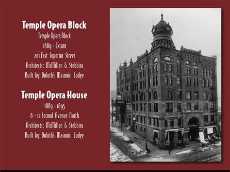 temple of the scapegoat opera stories books norshor theatre historical slide show duluth day