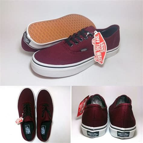 Sepatu Vans Port Royal vans authentic port royale maroon shoes shop id