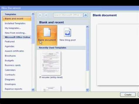 Free Resume Templates In Microsoft Word Youtube How To Find Resume Templates In Word
