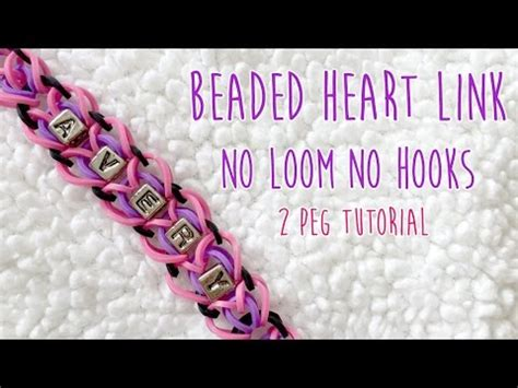 and pattern link for the no seam loom rainbow loom beaded link 2 pegs only no loom