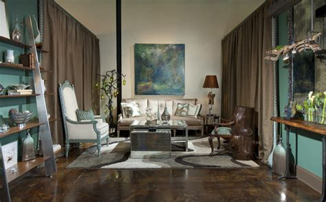 living room showrooms chic showroom living room vignette eclectic living