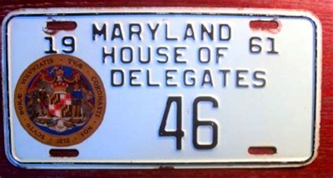 Maryland House Of Delegates by Collecting Political And Low Number License Plates Worthpoint