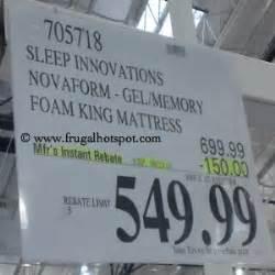 costco mattress sale costco sale sleep innovations novaform gel memory foam 12