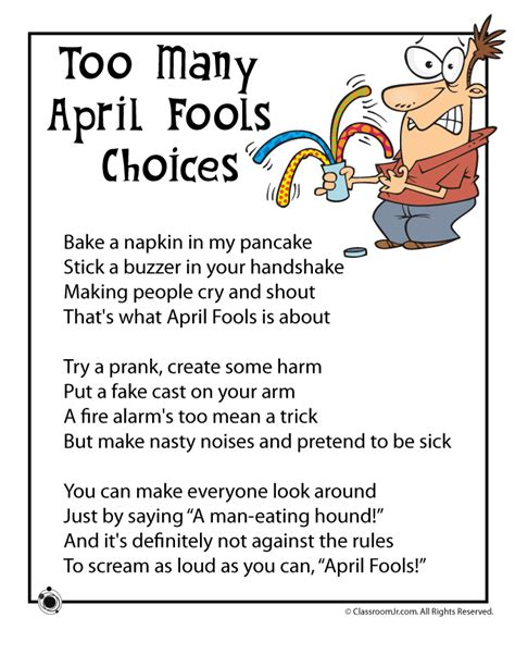 april fools day poems woo jr kids activities