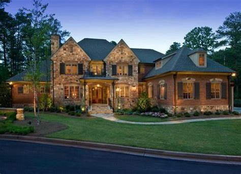 Large Luxury Homes And Brick Impart A Timeless Look To This Newly Built