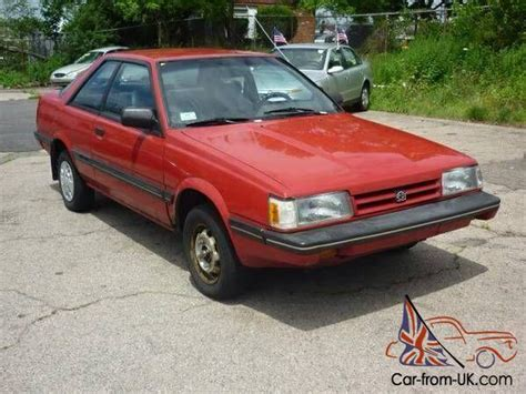 subaru hatchback 2 door 1989 subaru gl base hatchback 2 door 1 8l