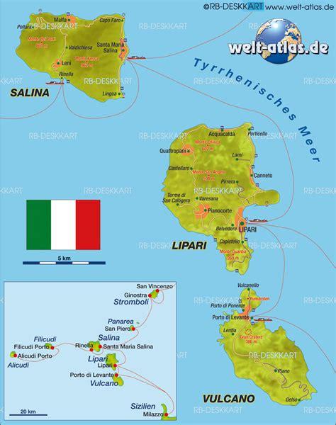 ledusa island italy map map of lipari island in italy welt atlas de