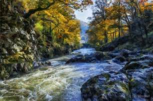 Wall Stickers Of Trees quot autumn river valley quot by ian mitchell redbubble
