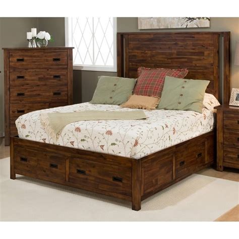 corner queen bed jofran coolidge corner queen storage bed in brown 1503