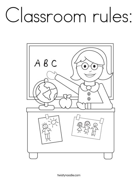 classroom rules coloring pages sketch coloring page