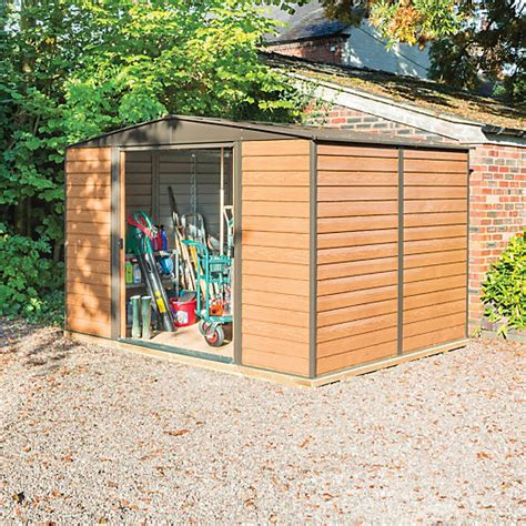 Wickes Metal Sheds by Rowlinson Woodvale Metal Apex Shed With Floor 10x8