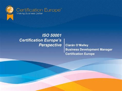 Energy Management Mba Europe by Iso 50001 Energy Management Certification