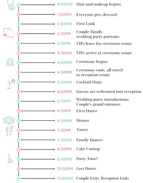 wedding planning schedule template wedding agenda images administrative officer
