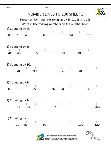 printable number line worksheets for kindergarten number line worksheets up to 1000