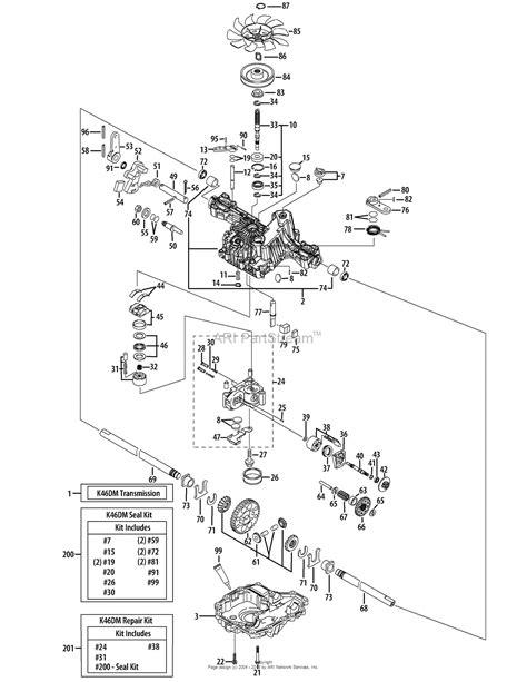 hydrostatic transmission diagram troy bilt 13aaa2kw266 tb2454 2015 parts diagram for