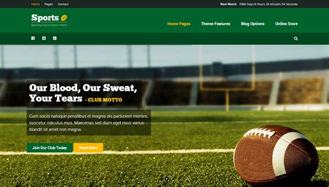 themes wordpress free sport 20 sports wordpress themes free premium templates